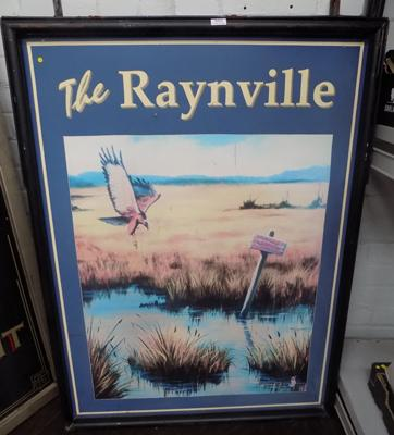 Vintage metal double sided hanging 'The Raynville' pub sign, Leeds - approx. 92 x 123cm