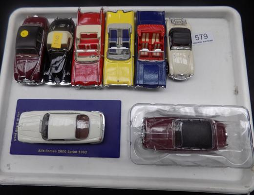 Tray of collector's diecast cars, mint condition - Corgi Precision diecast