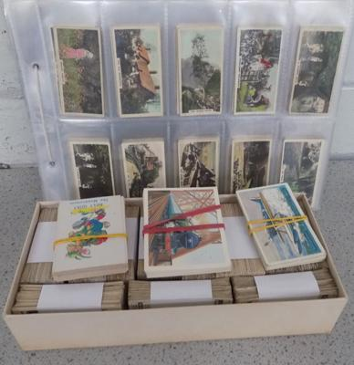 Album and box of cigarette cards