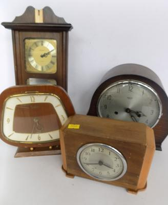 Selection of vintage clocks