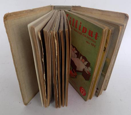 Lilliput binder full of Lilliput magazines, 1930's