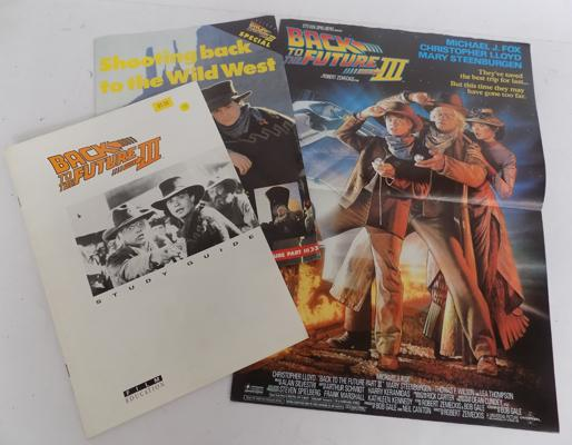 'Back to the Future 3' Study Guide & Two film posters