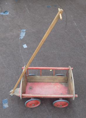 Old toy hand cart