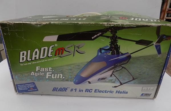 Blade MSR helicopter in box