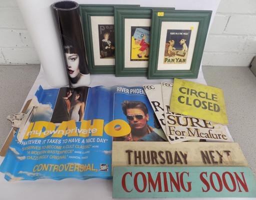 Selection of signs, posters & framed advertising plaques