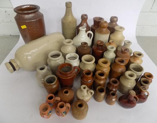 Large selection of stoneware jugs