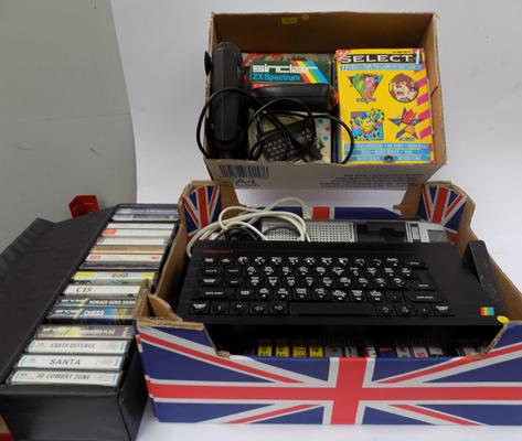 Spectrum 48K+, games, joystick, interface