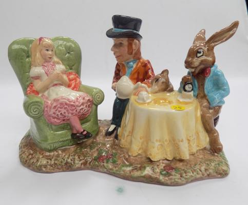 Beswick Mad Hatters tea party tableau limited edition of 1998 by Martyn Alcock