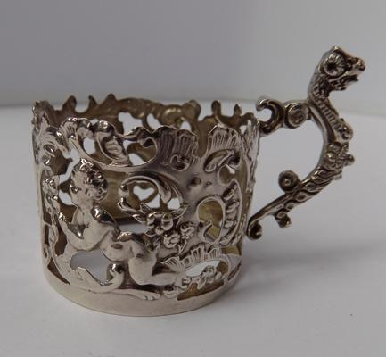 William Comyns silver cup holder Birmingham 1901 1.5""