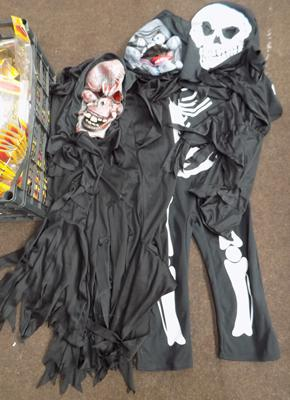 Selection of Halloween masks