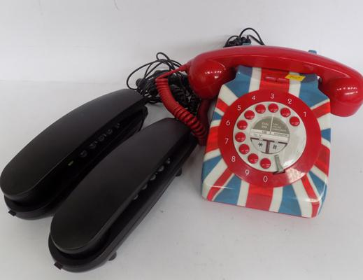 Selection of phones inc. Union Jack phone