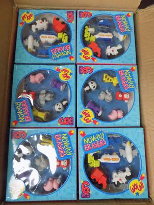 Twenty four packs of novelty erasers