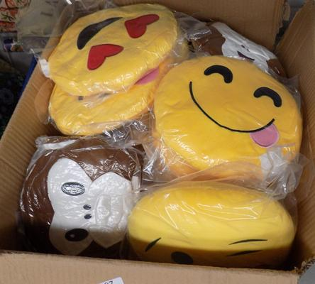 Box of new Emoji cushions