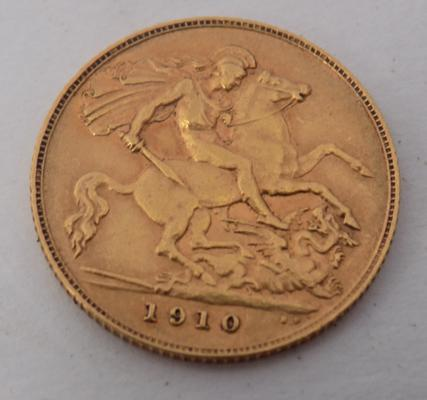 1910 Half Sovereign coin