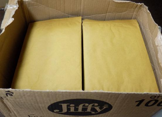 Box of Jiffy envelopes