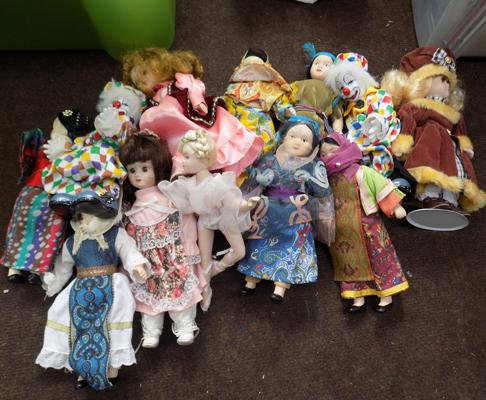 Selection of porcelain dolls