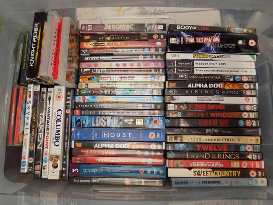 Box of DVDs, incl. Skyfall, Columbo & more