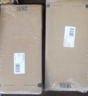 Two packs of cardboard mailing boxes