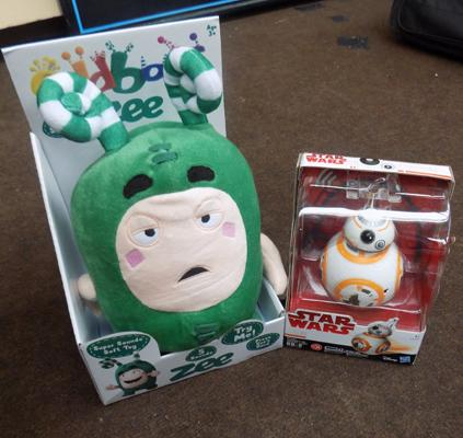 Oddbods figure + Star wars figure