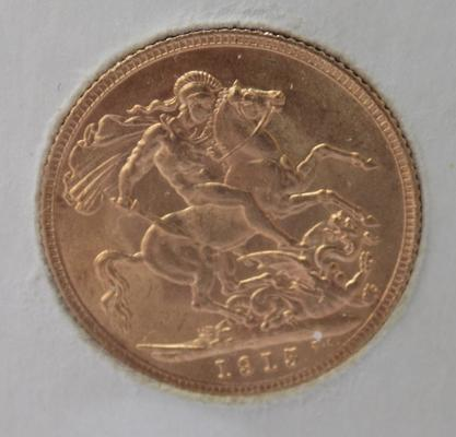 1915 Full Sovereign coin