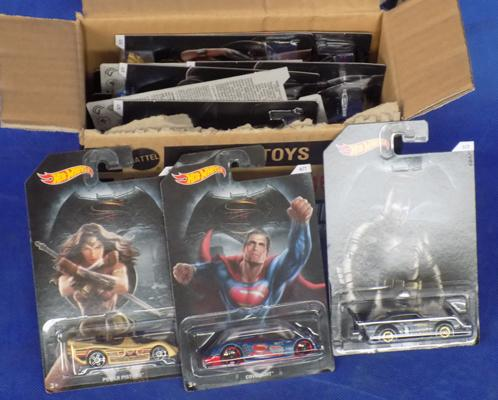 Full box of Hot-wheels Super Heroes