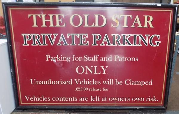 4ft x 6ft Metal 'Old Star' sign