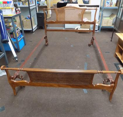 Art deco double bed frame