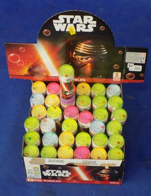 36x Star Wars bubbles