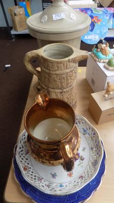 Selection of pottery incl. water filter