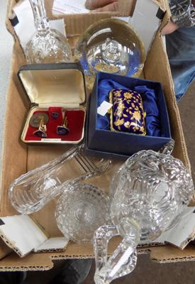 Small selection of collectables incl. masonic cufflinks etc.