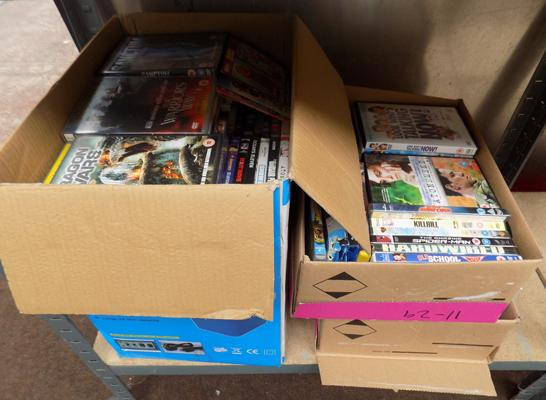 3x boxes of DVD's