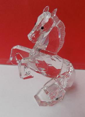 Swarovski crystal rearing stallion with frosted mane & tail-no damage