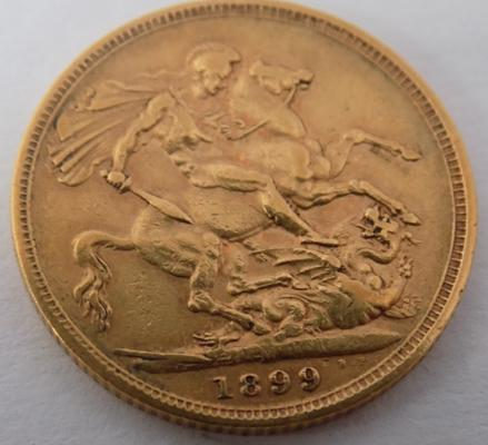 1899 Full Sovereign coin