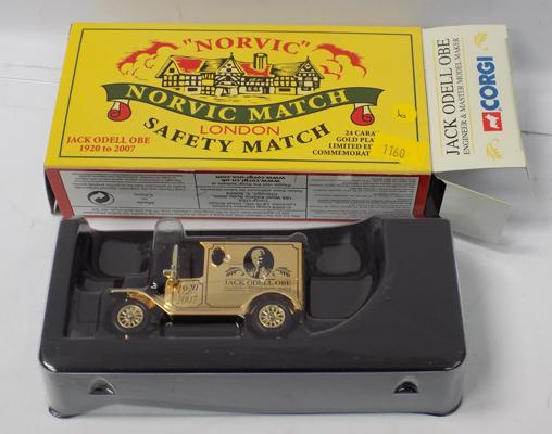 Corgi Ltd Edition 24ct gold plated Jack Odell 1920's delivery van