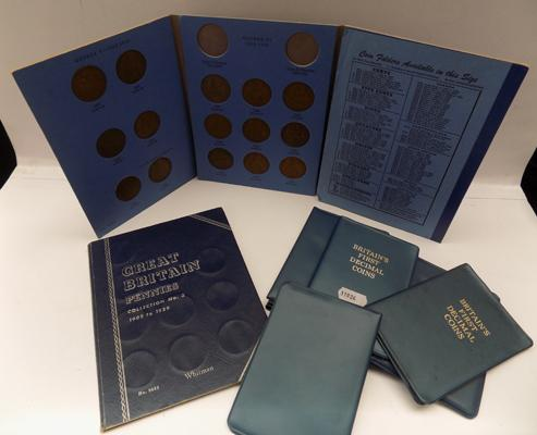 Selection of collectors coins inc Great Britain collection (pennies)