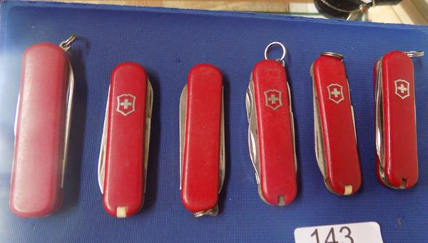 6 Swiss army knives
