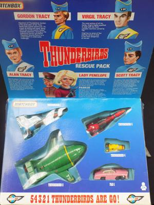 Vintage Thundebirds rescue pack diecast vehicles