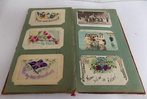 Album of WWI sweetheart cards, postcards etc...
