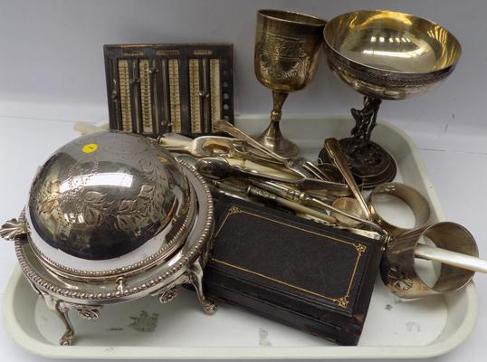 Selection of silver plate & collectables
