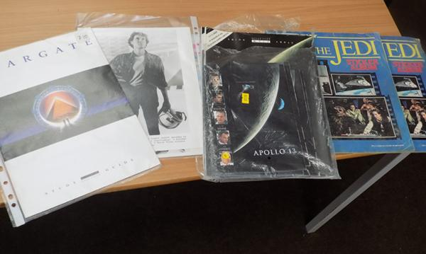 Selection of Sci-fi collectables including Production Stills, Apollo 13 study guide