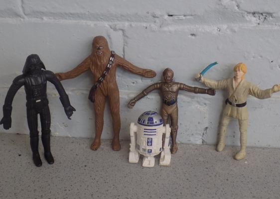 Just toys 1993 Star Wars bendys x5