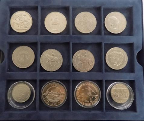 Crowns 1951,53,60 and other coins