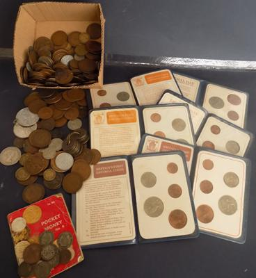 Large amount of mixed coins