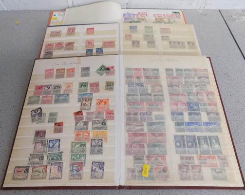 3 Albums of stamps Australia, South Africa etc