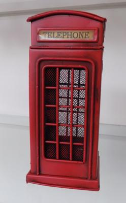 Approx. 8 inch tin plate red box telephone