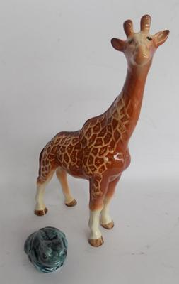 "Melba Giraffe and Poole frog. 11.5"" approx"