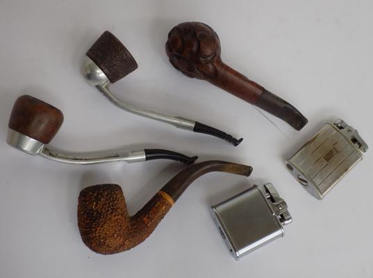 Selection of pipes + lighters