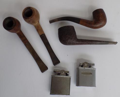 Selection of pipes & lighters
