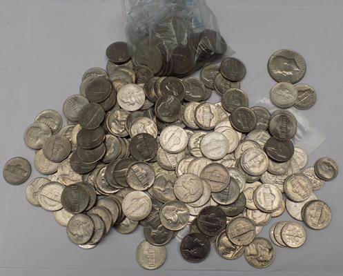 Selection of American coins-vintage & modern
