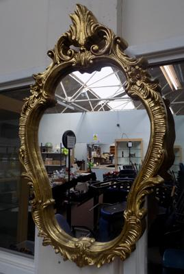 Large ornate gilt mirror 36 1/2  x 23 inch